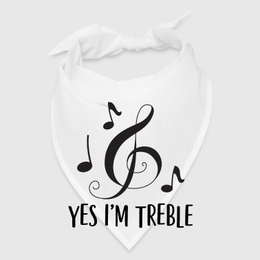 Funny Music Yes I'm Treble Mugs & Drinkware - Bandana