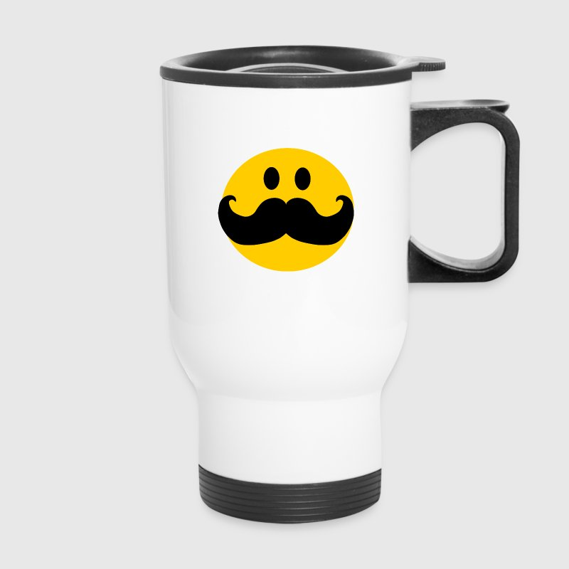 Funny Mustache Smiley Accessories - Travel Mug