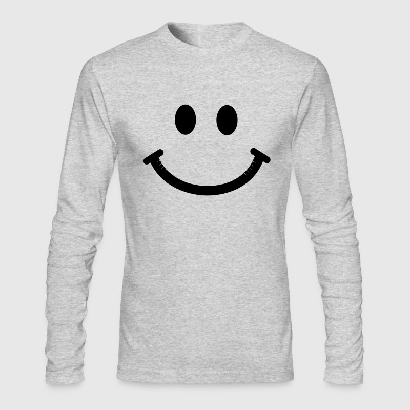 Happy Smiley Face Long Sleeve Shirts - Men's Long Sleeve T-Shirt by Next Level