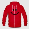 Happy Smiley Face Zip Hoodies/Jackets - Unisex Fleece Zip Hoodie by American Apparel