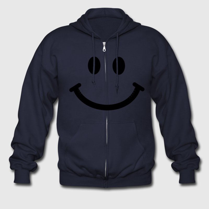 Happy Smiley Face Zip Hoodies/Jackets - Men's Zip Hoodie