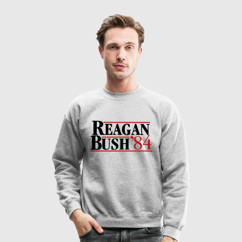 Reagan Bush '84 Long Sleeve Shirts - Crewneck Sweatshirt