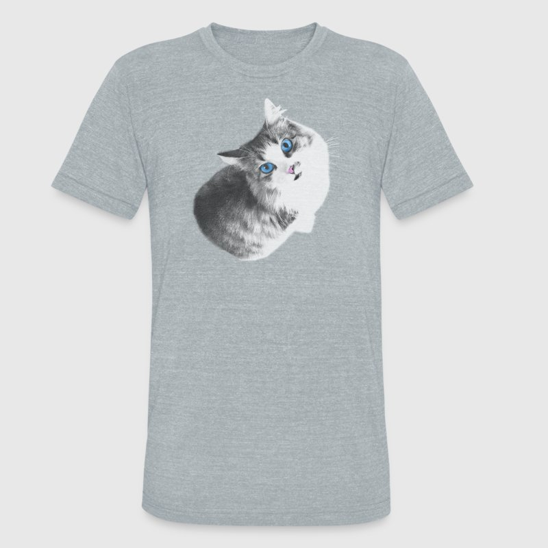 Maya the cat T-Shirts - Unisex Tri-Blend T-Shirt by American Apparel