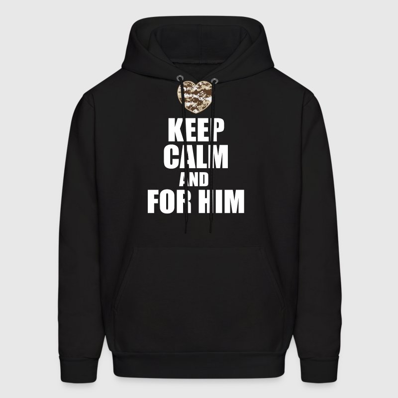 keep calm and wait for him Hoodies - Men's Hoodie