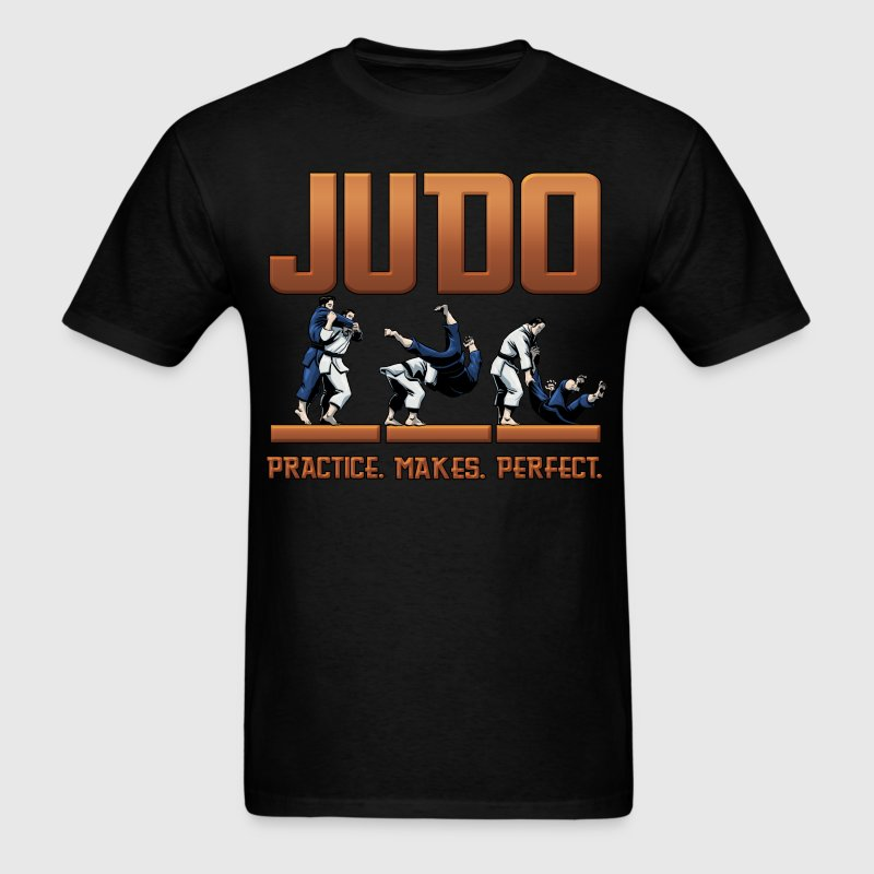 Judo Throw Design Mens Black T- Shirt Practice Mak - Men's T-Shirt
