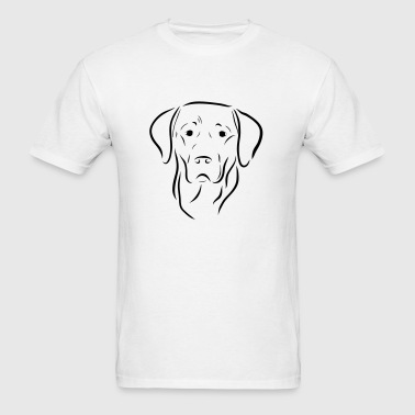 dog labrador drawing pet love animal Sportswear - Men's T-Shirt