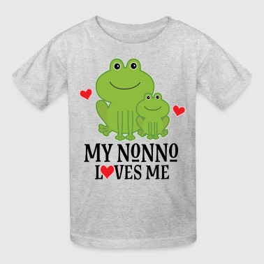 My Nonno Loves Me Grandson Frog Kids' Shirts - Kids' T-Shirt