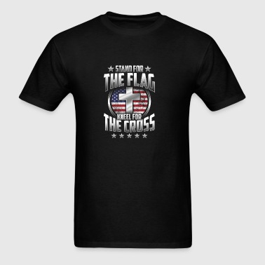Stand For The Flag Kneel For The Cross T Shirt Gif Sportswear - Men's T-Shirt