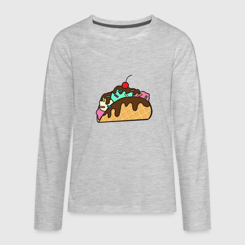 Ice Cream Taco Kids' Premium Long Sleeve T-Shirt   Spreadshirt