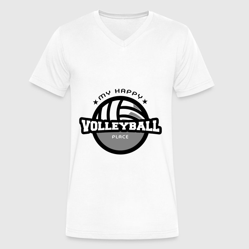 My happy place volleyball t shirt gift t shirt spreadshirt my happy place volleyball t shirt gift t shirts mens v neck t negle Images