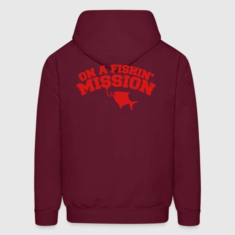 On a FISHIN' MISSION (Fishing fish with a hook) Hoodies - Men's Hoodie