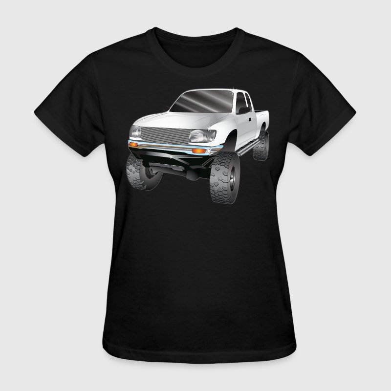 Toyota Tacoma Truck 4x4 rock crawler, white - Women's T-Shirt
