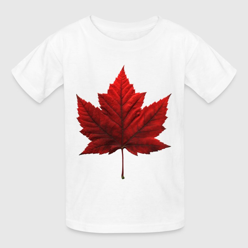 Kid's Canada Souvenir T-shirt Maple Leaf Shirt - Kids' T-Shirt