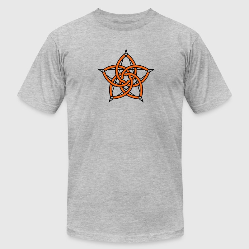 Pentagram & Venus Flower - Protection & Balance / T-Shirts - Men's T-Shirt by American Apparel