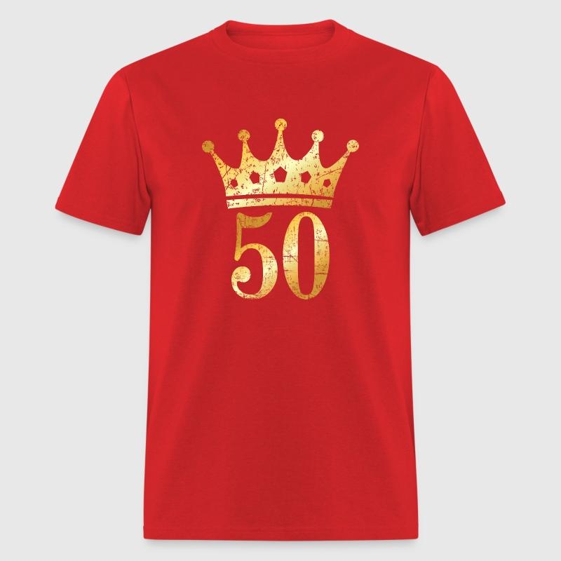 50th Birthday & Anniversary Crown (Vintage Gold) T-Shirt