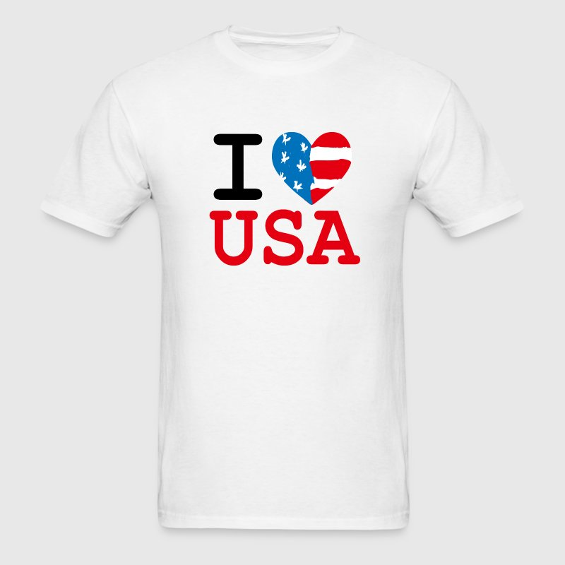 I Heart USA T-Shirts - Men's T-Shirt