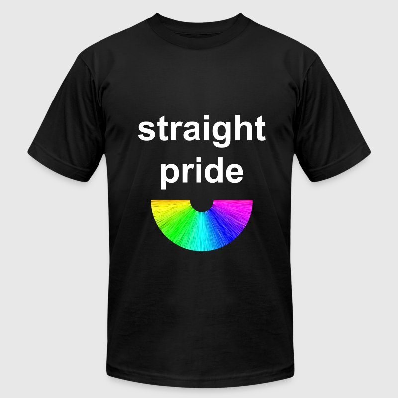 Straight Pride - Men's T-Shirt by American Apparel