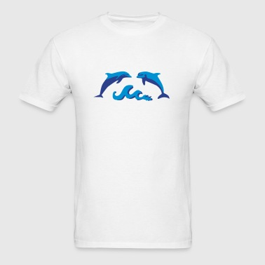 Dolphins & Waves, Dolphin Sportswear - Men's T-Shirt