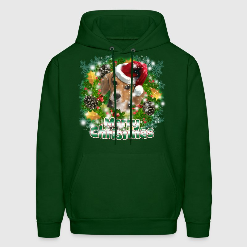 Merry Christmas Beagle Hoodies - Men's Hoodie
