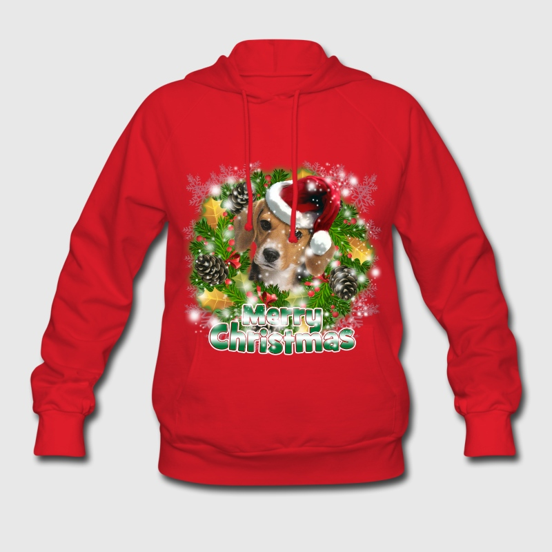 Merry Christmas Beagle Hoodies - Women's Hoodie