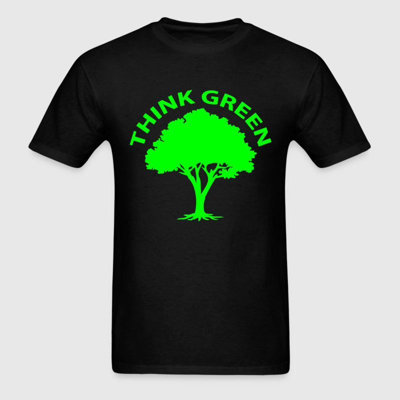 T-shirt think green, tree - Men's T-Shirt