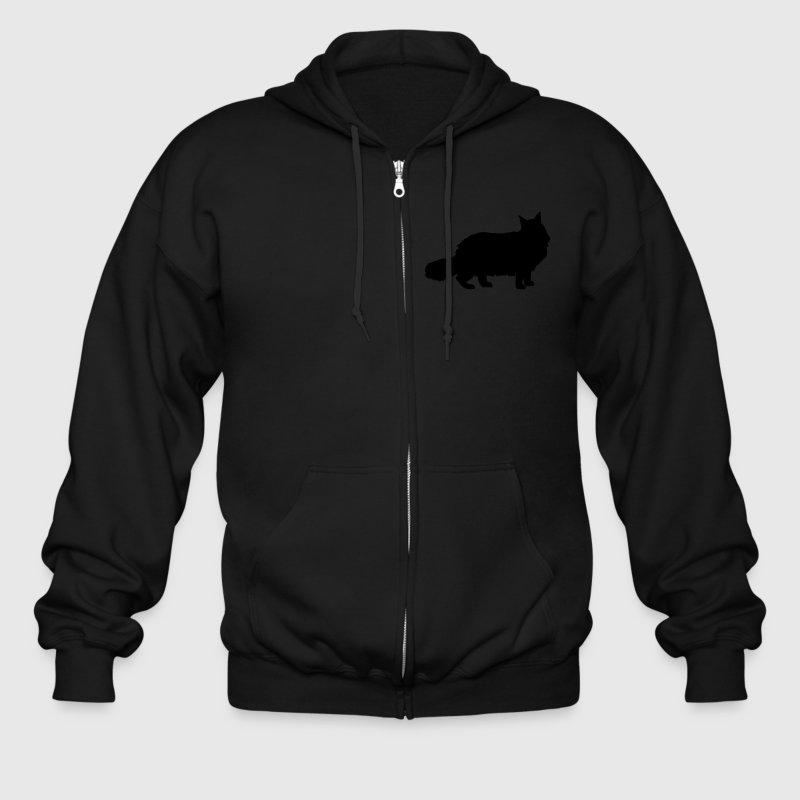 Maine Coon Cat Zip Hoodies/Jackets - Men's Zip Hoodie