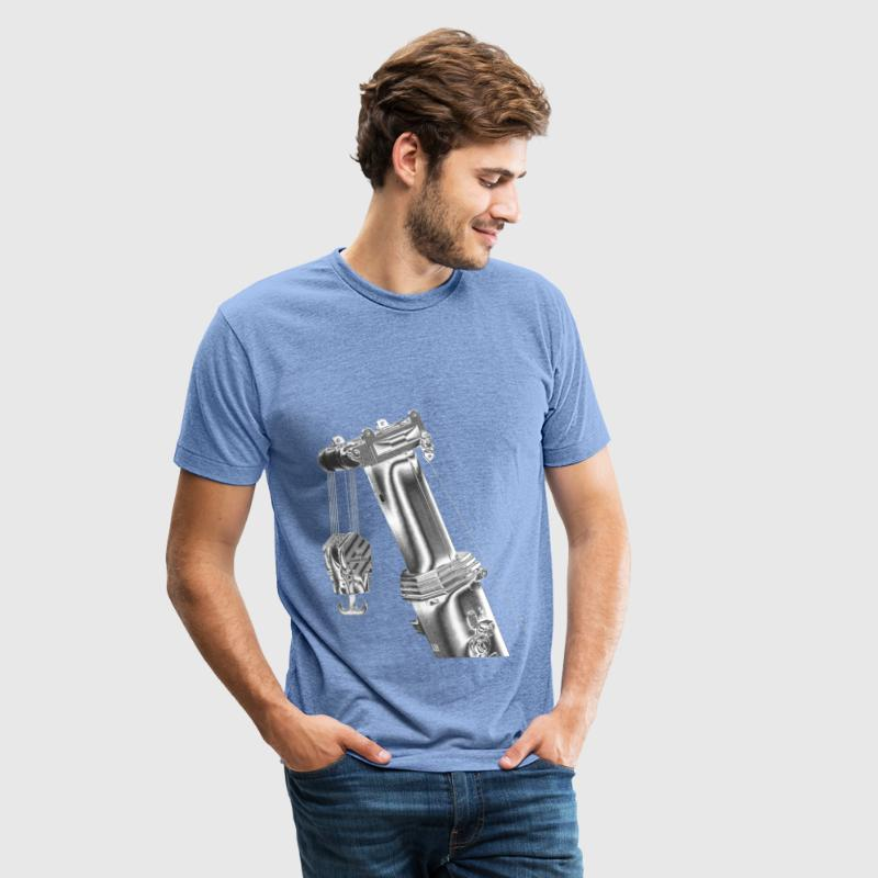 Mobile Crane Boom Top T-Shirts - Unisex Tri-Blend T-Shirt by American Apparel