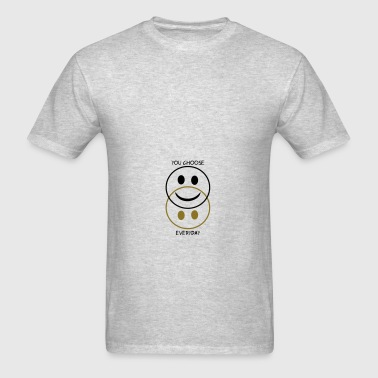 Happy and sad smiley - you choose Bags & backpacks - Men's T-Shirt