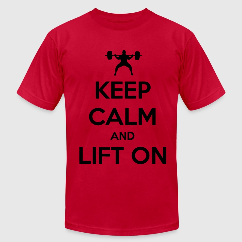 Keep Calm And Lift On T-Shirts - Men's Fine Jersey T-Shirt