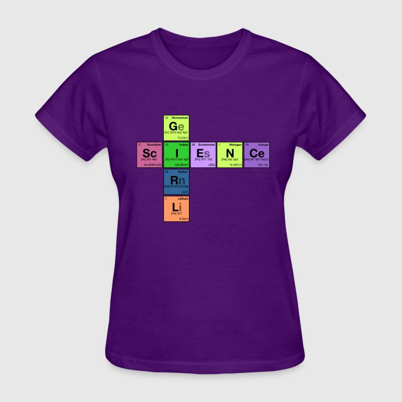 SCIENCE GIRL! - Periodic Elements Scramble - Women's T-Shirt