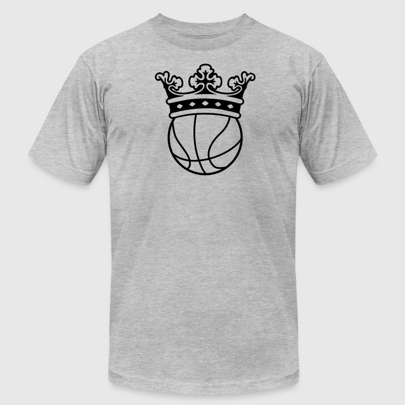 Basketball Crown T-Shirts - Men's T-Shirt by American Apparel