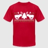 Funny! Ugly Christmas Sweater - Men's T-Shirt by American Apparel
