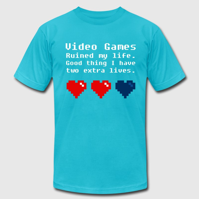 Video Games Ruined my Life - Men's Fine Jersey T-Shirt