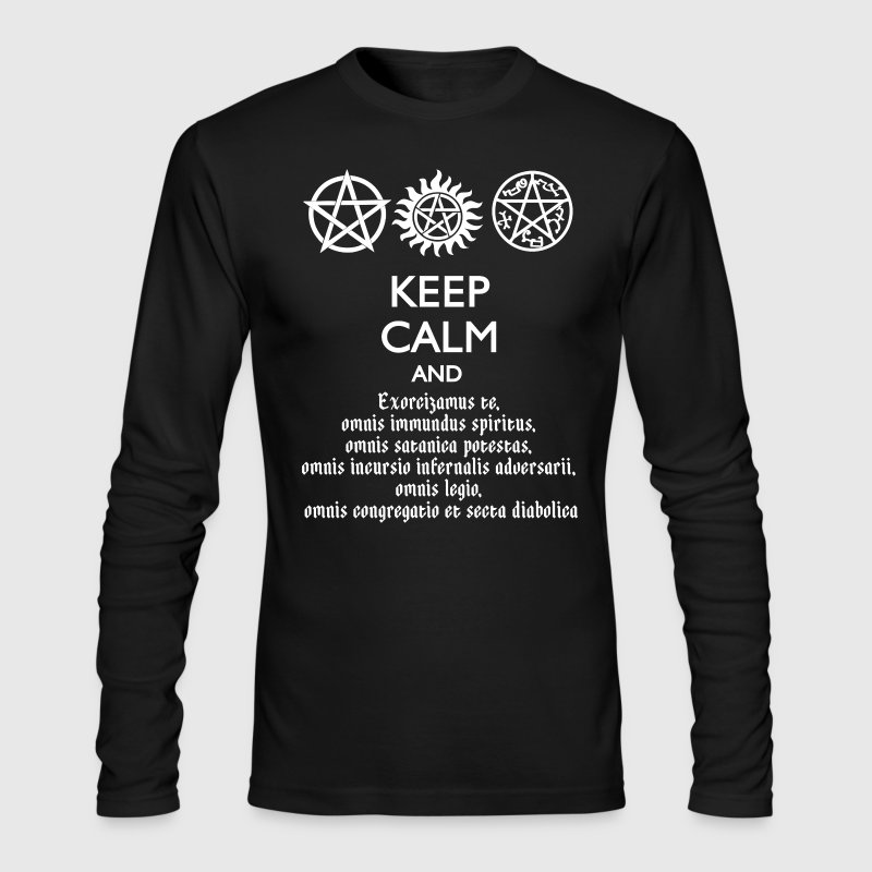 KEEP CALM AND SPEAK LATIN - Men's Long Sleeve T-Shirt by Next Level