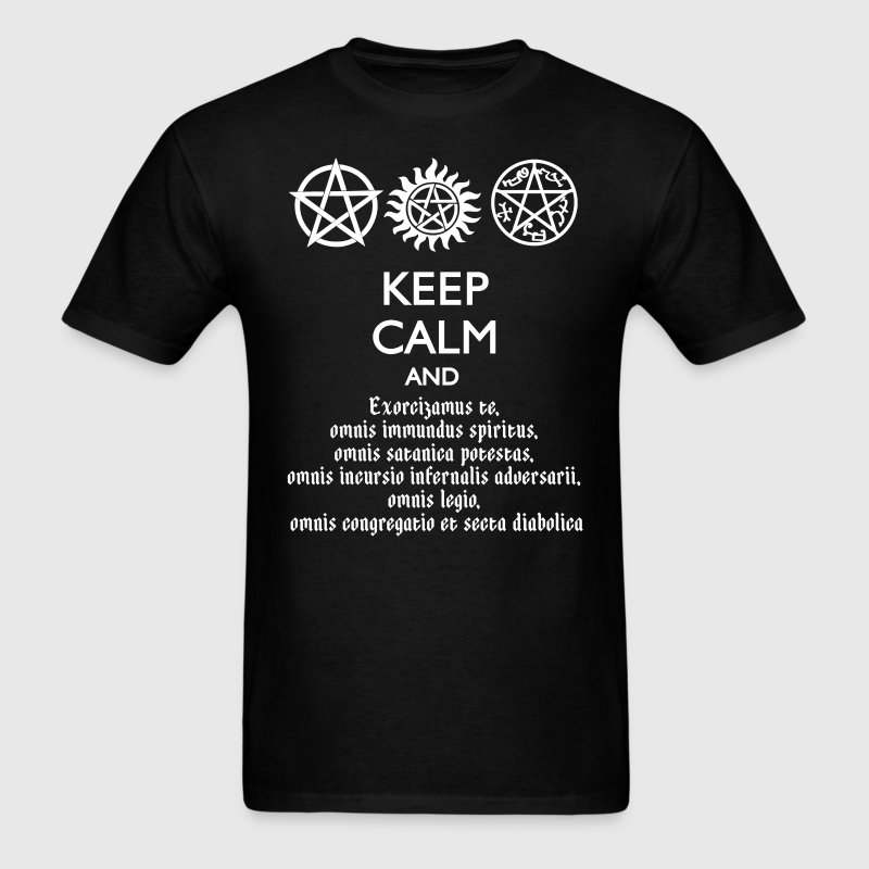 KEEP CALM AND SPEAK LATIN - Men's T-Shirt