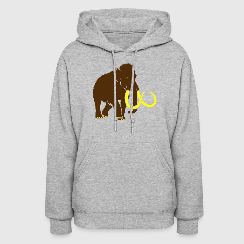 animal t-shirt mammoth ice age cave hunter tusk Hoodies - Women's Hoodie