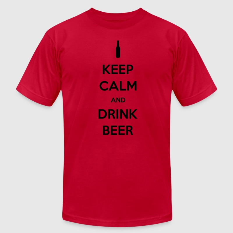 Keep Calm and Drink Beer Men's T-shirt - Men's T-Shirt by American Apparel