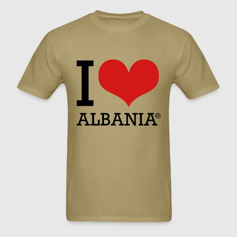 I LOVE ALBANIA T-Shirts - Men's T-Shirt