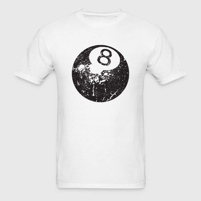 8Ball - Grungy Distressed Look T-Shirts - Men's T-Shirt