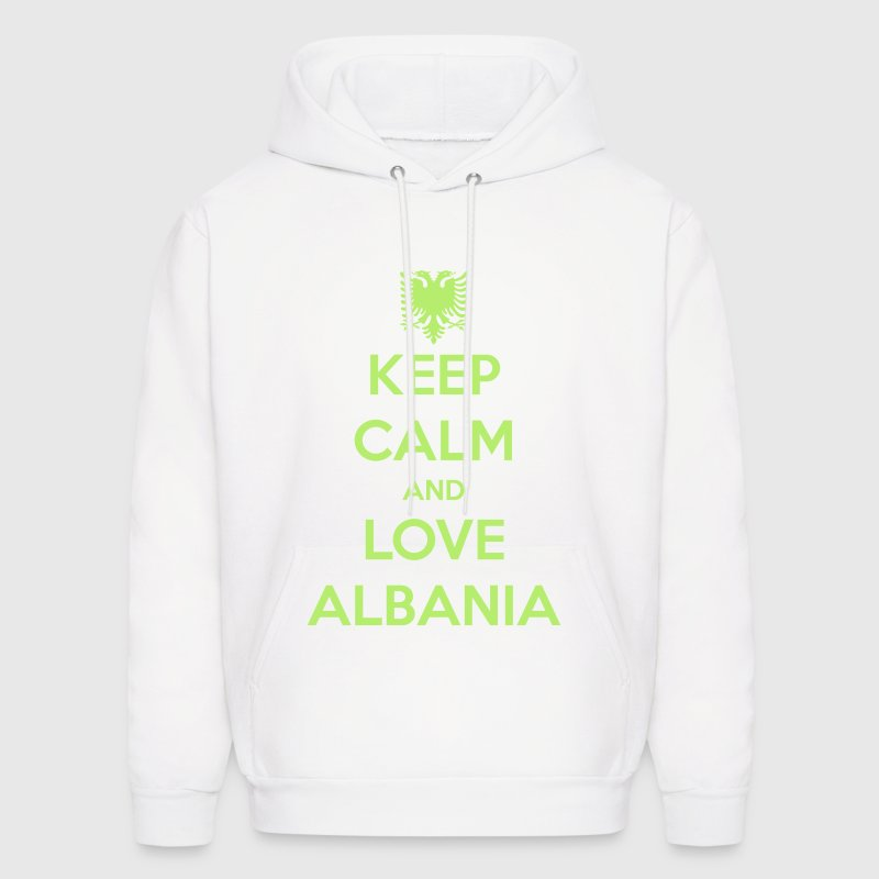 KEEP CALM AND LOVE ALBANIA Hoodies - Men's Hoodie