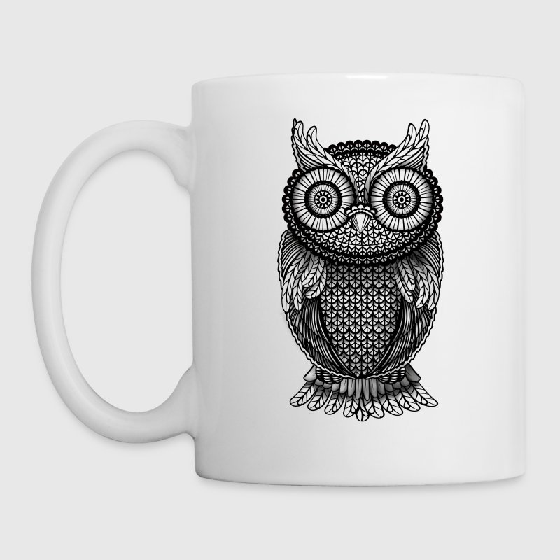 ornamental Owl Design black and white Accessories - Coffee/Tea Mug