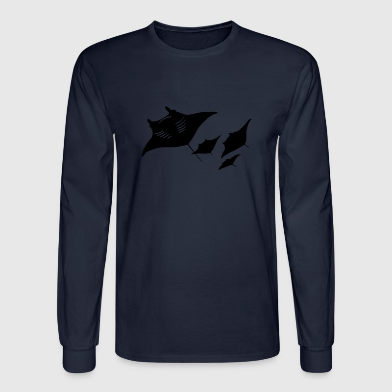 manta ray sting scuba diving diver dive Long Sleeve Shirts - Men's Long Sleeve T-Shirt