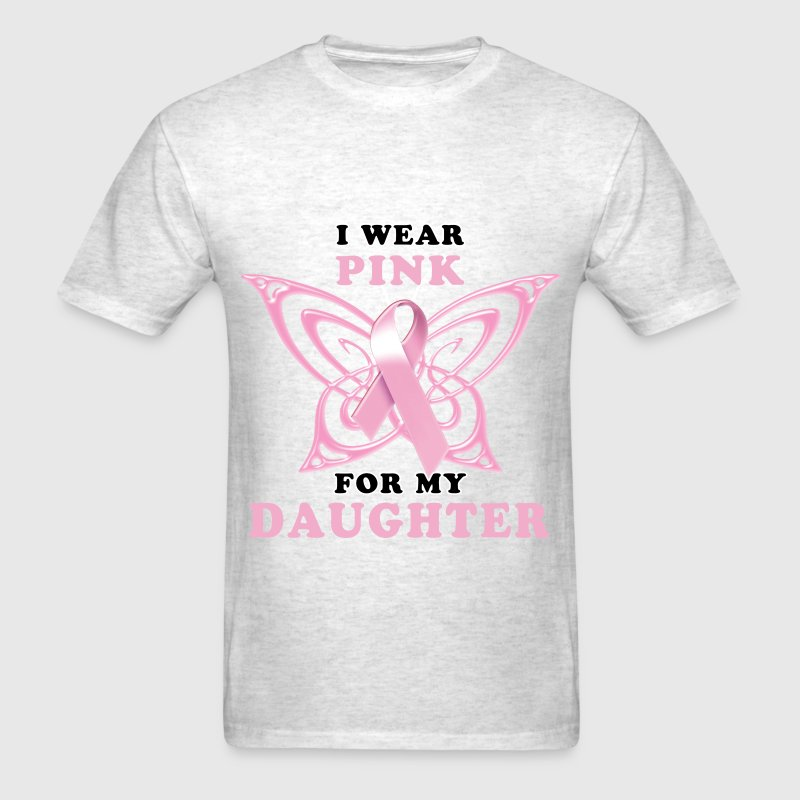I Wear Pink for my Daughter T-Shirts - Men's T-Shirt