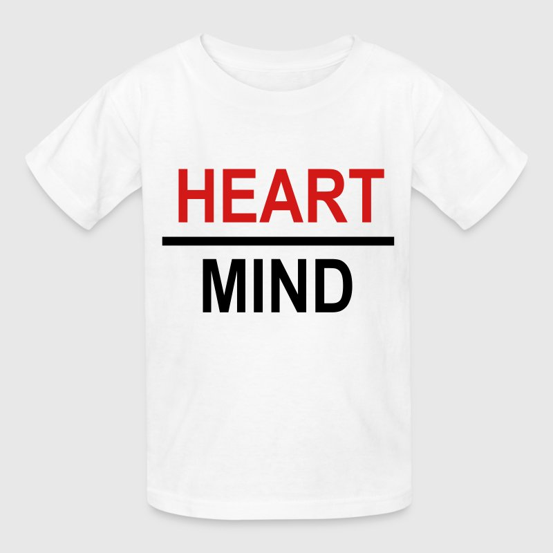 Heart Over Mind Shirt - Kids' T-Shirt