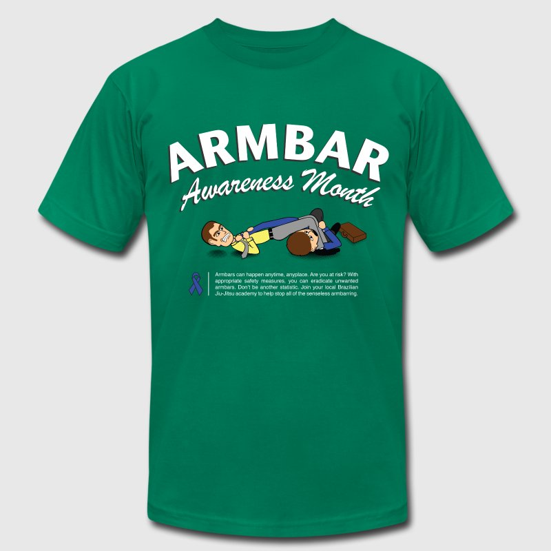 Armbar Awareness Month funny BJJ t-shirt - Men's T-Shirt by American Apparel