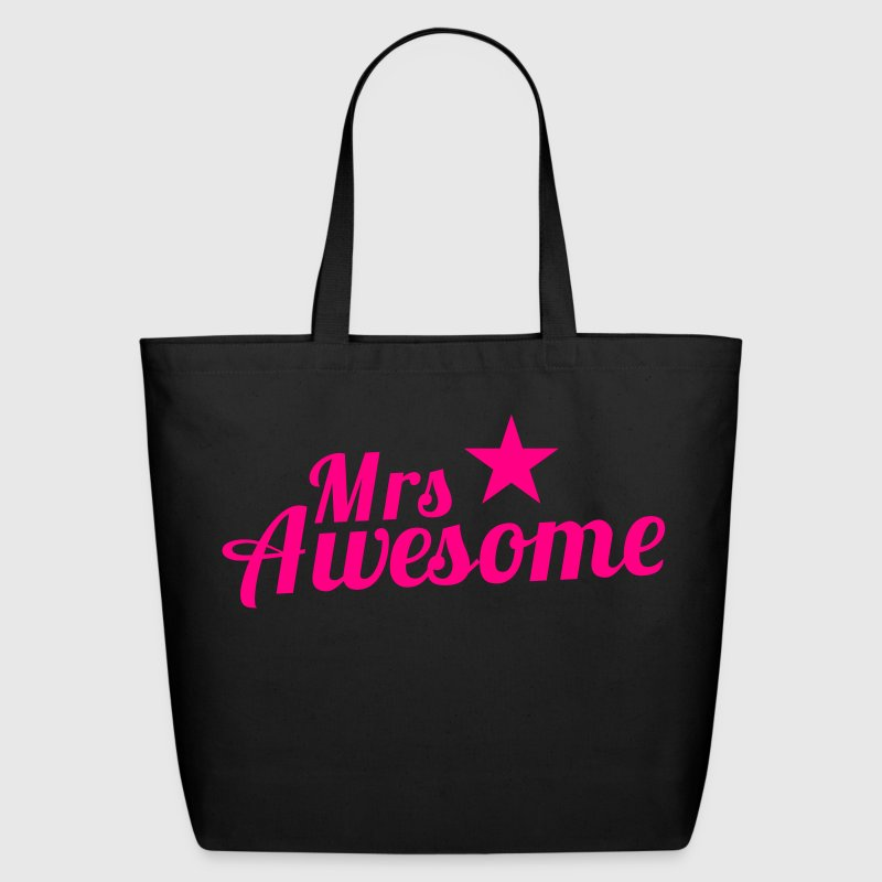 MRS AWESOME with a sexy pink star Bags & backpacks - Eco-Friendly Cotton Tote