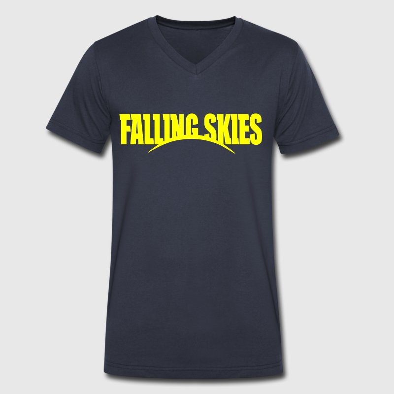 falling skies - Men's V-Neck T-Shirt by Canvas