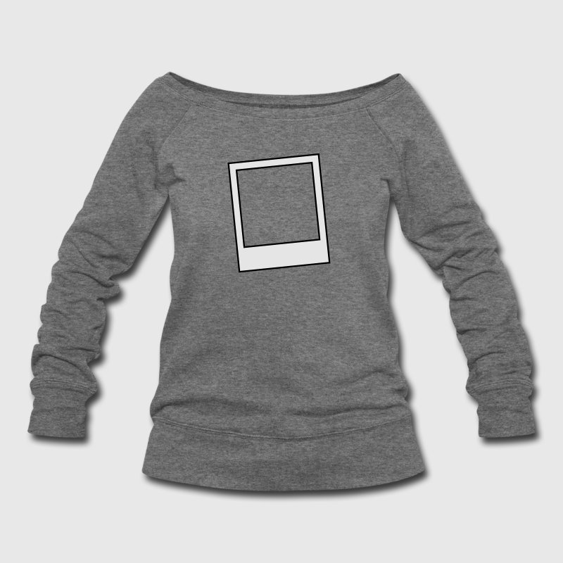polaroid style photo photograph frame Long Sleeve Shirts - Women's Wideneck Sweatshirt