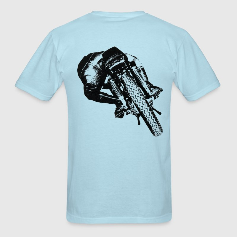 Vintage Cafe Racer T-shirt backside - Men's T-Shirt