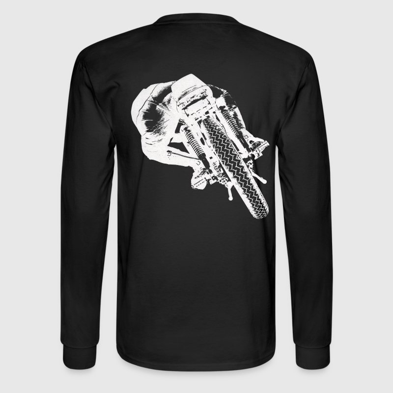 Vintage Cafe Racer Long sleeve T-shirt backside - Men's Long Sleeve T-Shirt